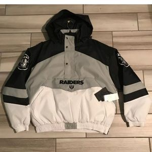 Oakland Raiders Half Zip Jacket